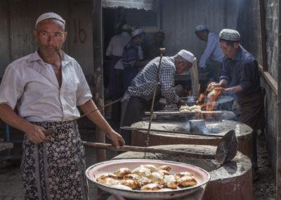 Imbiss Viehmarkt Kashgar