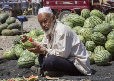 Mittag, Viehmarkt Kashgar